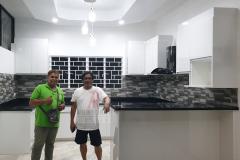 Obsedian White Modular Kitchen
